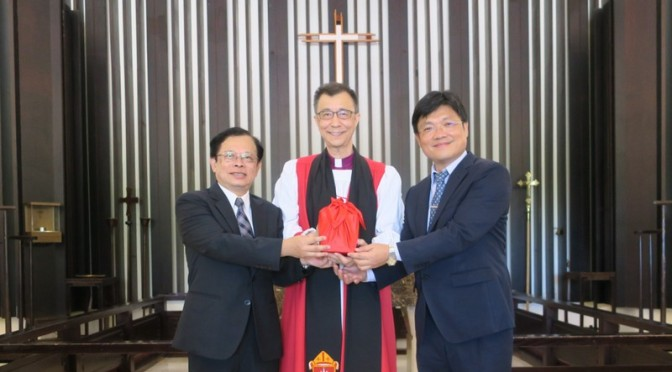 Professor Ben Hung-Pin Huang 黃宏斌 takes over as new President of St. John's University, Taiwan 臺大教授黃宏斌接掌聖約翰科大校長